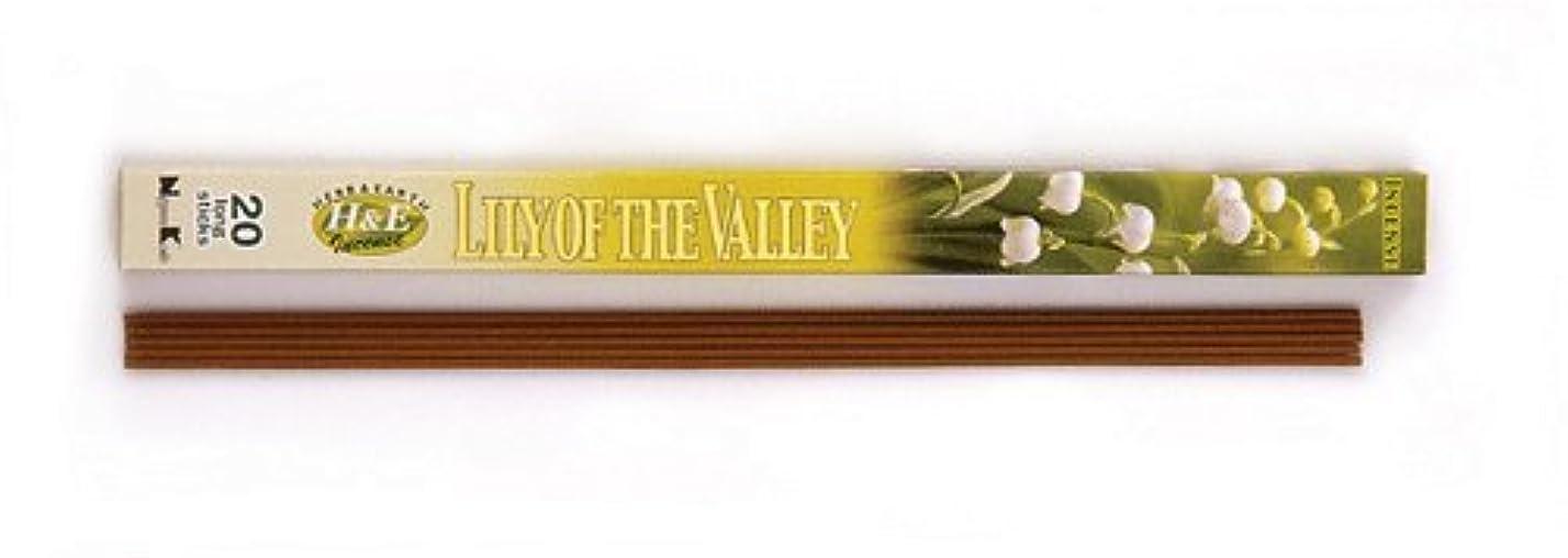 仲介者レポートを書く崖HERB&EARTH Incense LILY OF THE VALLEY スズラン スティック 【お香】
