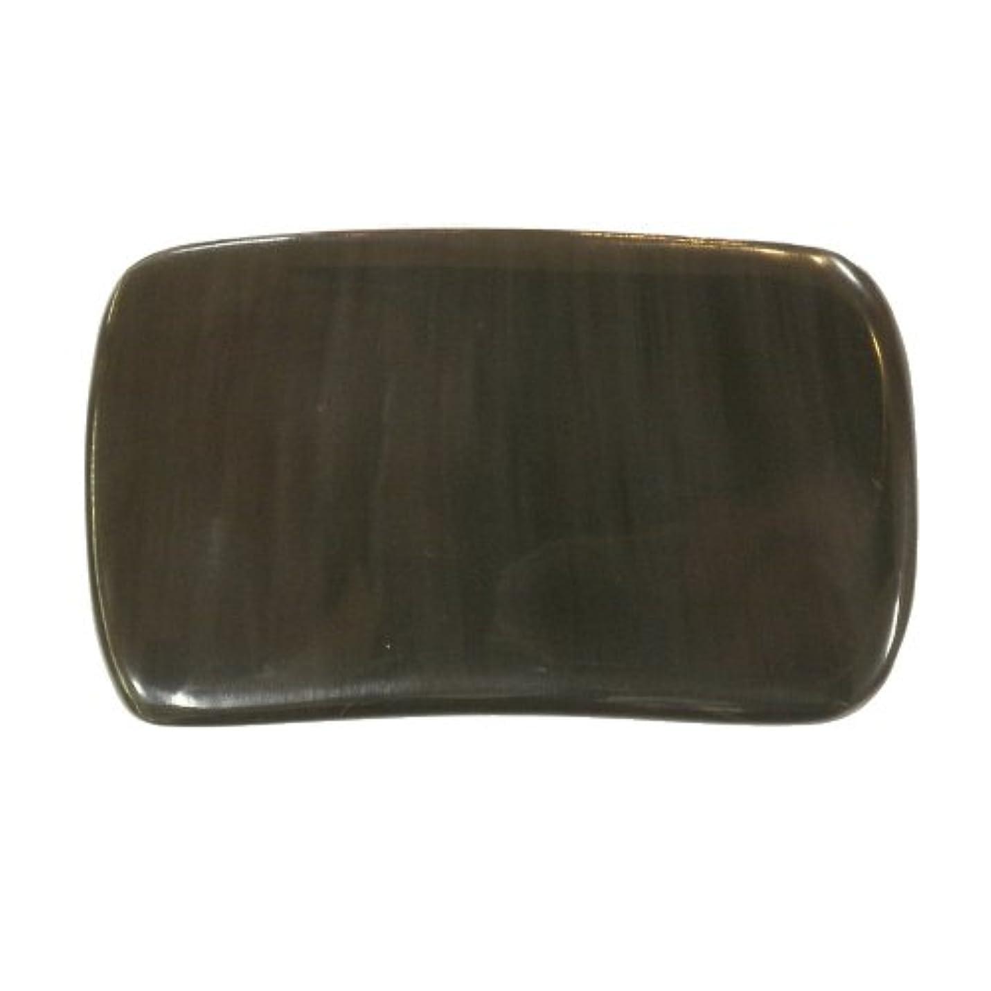 かっさ プレート 厚さが選べる ヤクの角(水牛の角) EHE268SP 長方形大 特級品 厚め(7ミリ程度) 穴あり