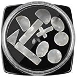 Osize ストーンシェルネイルアートスパンコールネイルジェル用ポーランドネイルデコレーションネイルグリッターネイルアクセサリー(ホワイト)