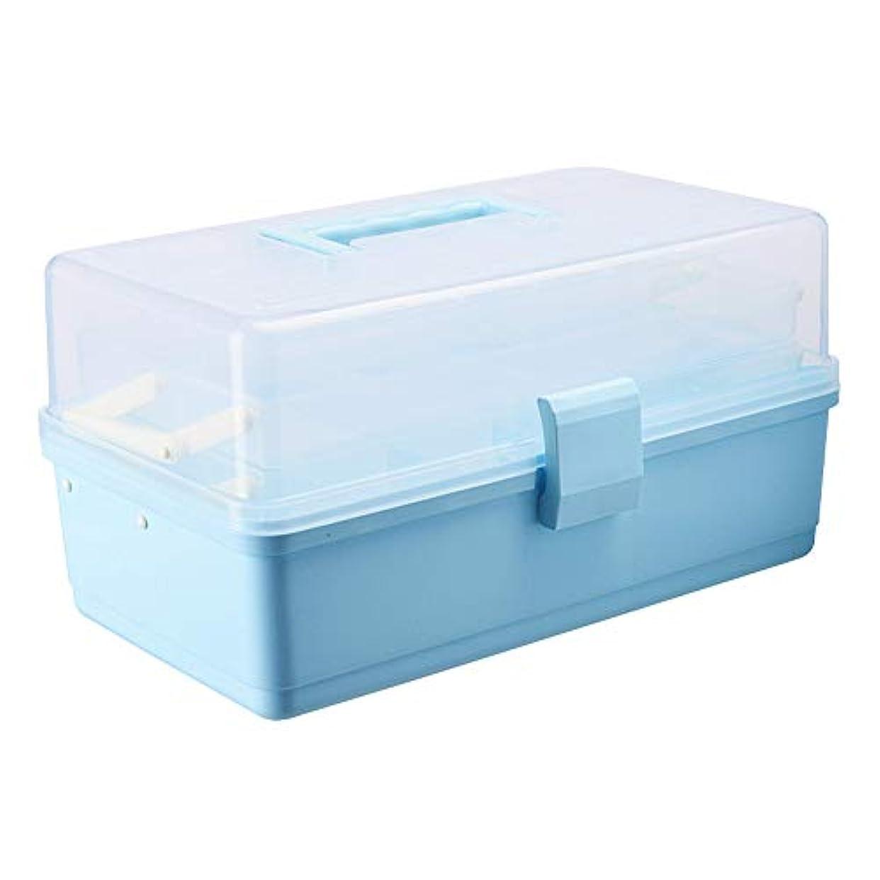 ドラッグ収納ボックス 医療ボックスPP材料、シンプルなポータブルポータブル防湿防塵目に見えるボックスカバー多層大容量、ボックス家庭用ボックス家族医療ボックス子供小箱赤ちゃん収納ボックス - サイズ:34 cm X 20.5...