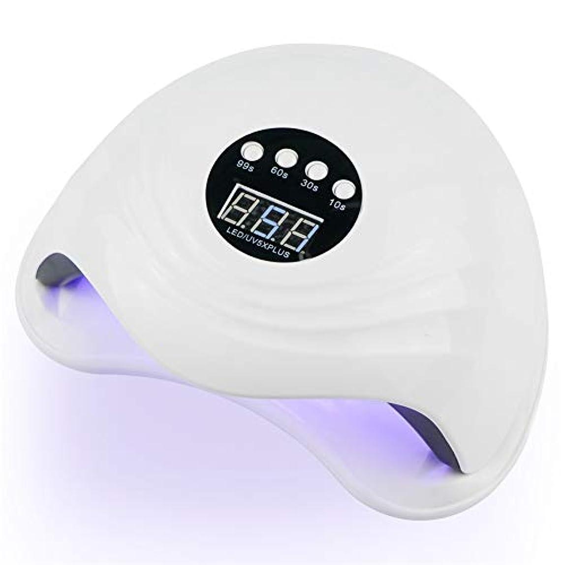 ZHQI-NAIL 108W紫外線LEDの釘ランプの釘のドライヤー二重手36 PCS LED紫外線ランプの日光ランプの治療のための紫外線ゲルのマニキュアをセンサーLCD表示 (色 : 白, Size : Eu plug)