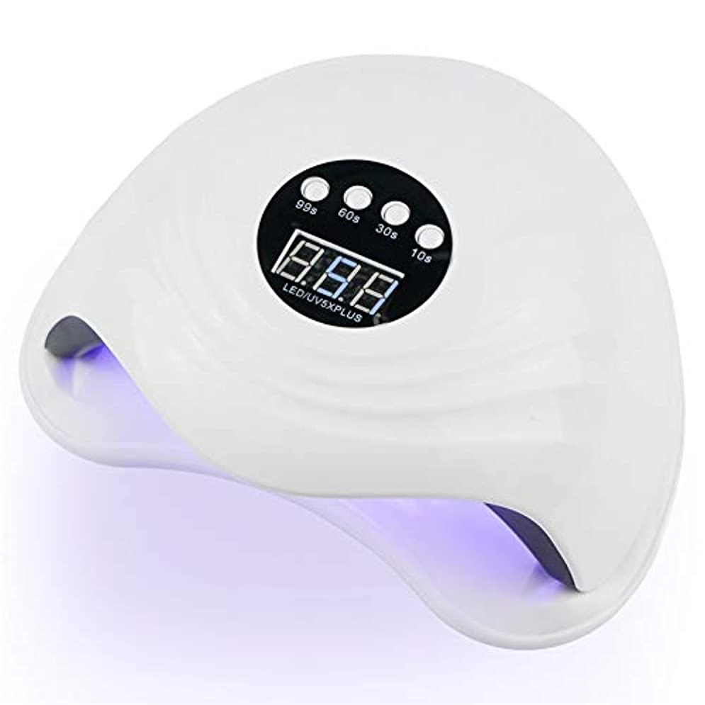 重くする子犬常習的ZHQI-NAIL 108W紫外線LEDの釘ランプの釘のドライヤー二重手36 PCS LED紫外線ランプの日光ランプの治療のための紫外線ゲルのマニキュアをセンサーLCD表示 (色 : 白, Size : Eu plug)