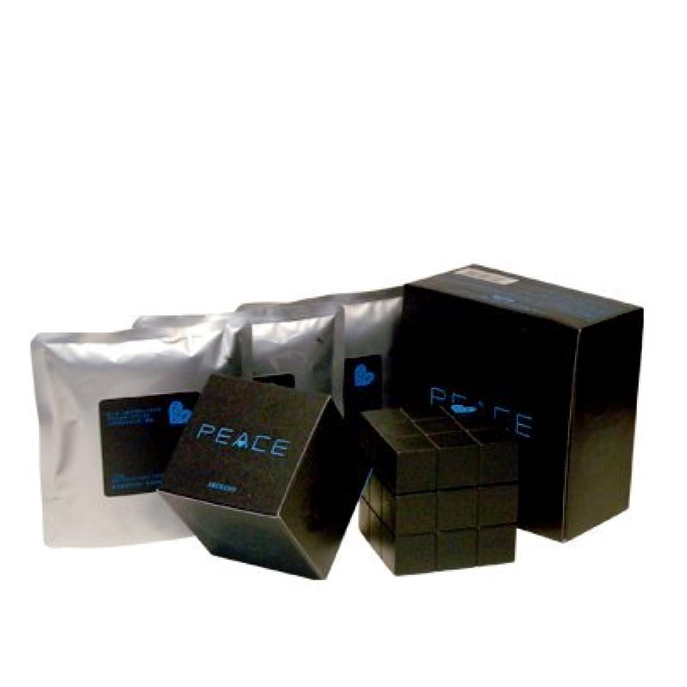 鳩からに変化するペニーアリミノ ピース プロデザインシリーズ フリーズキープワックス ブラック80g+詰め替え80g×3