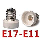 口金変換アダプター E17-E11ソケット口金変換アダプタE17からE11 電球ソケット