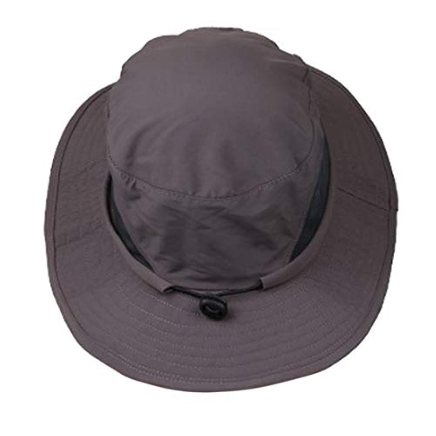 酒家庭回転するLUISUI(ルイスイ)アウトドアの日よけ帽 UPF50+ つば広い 撥水 通気性強い ひも付き 調整可能 サファリハット 通勤 通学 公園 釣り ハイキング 登山 キャンプ フィッシングに適用 ユニセックス 軽量 持ち運びも便利(全5色)