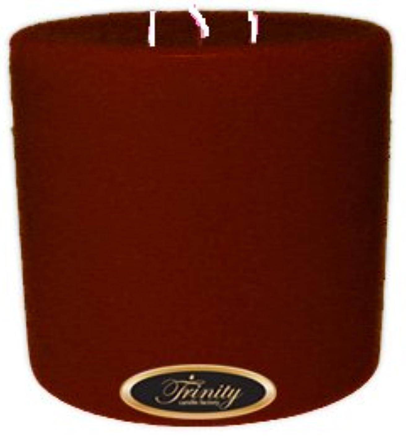 抽象笑い肩をすくめるTrinity Candle工場 – クローブスパイス – Pillar Candle – 6 x 6