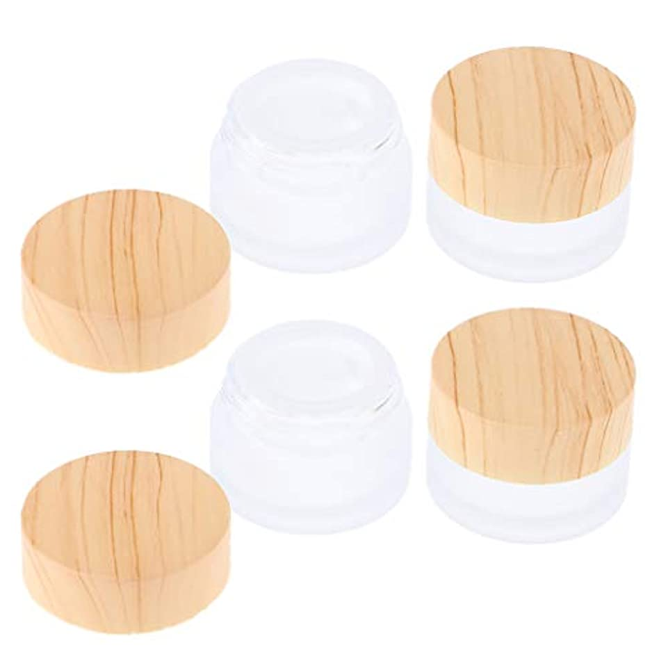 散髪割る定期的な4個 フェイスクリーム容器 サンプルボトル 化粧品 メイクアップジャー ポット 4サイズ選べ - 5g