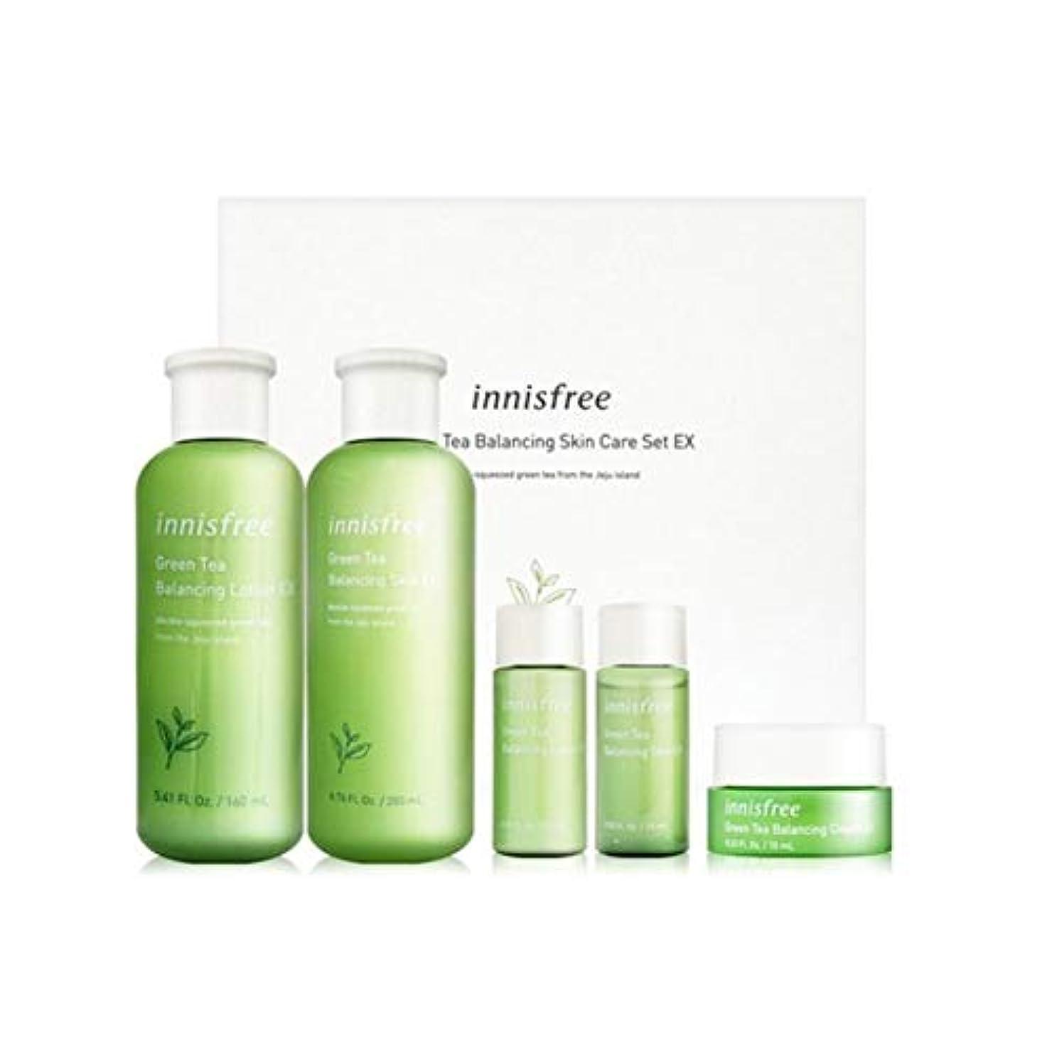 ジャンク境界障害イニスフリーグリーンティーバランシングスキンケアセットの水分ケア韓国コスメ、innisfree Green Tea Balancing Skin Care Set Korean Cosmetics [並行輸入品]