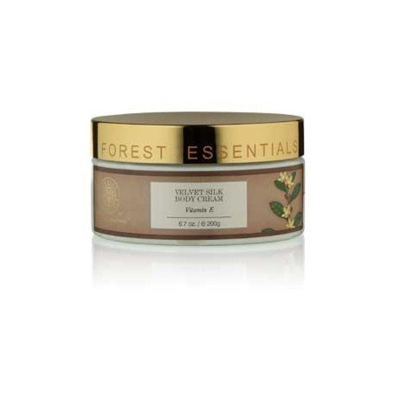ベックスカテゴリー吹きさらしForest Essentials Velvet Silk Body Cream Vitamin E - 200g