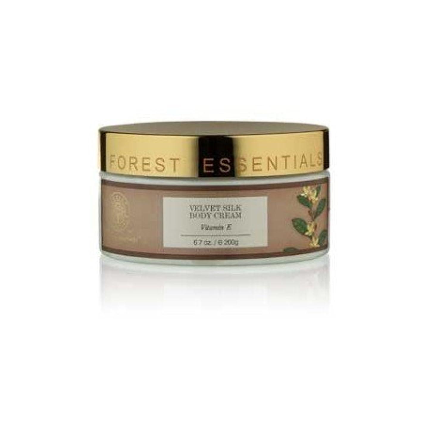 シダ高原性差別Forest Essentials Velvet Silk Body Cream Vitamin E - 200g