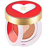 PRPL Kiss and Heart Double Cushion (Red Edition) #21 Pure Ivory - Korean Make-up, Cushion Foundation, Korean Beauty...