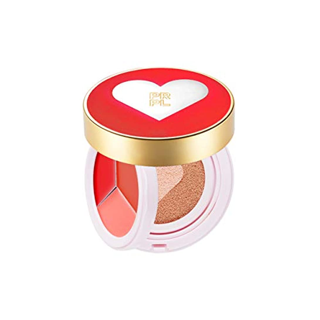 ピック背が高い血統PRPL Kiss and Heart Double Cushion (Red Edition) #21 Pure Ivory - Korean Make-up, Cushion Foundation, Korean Beauty...