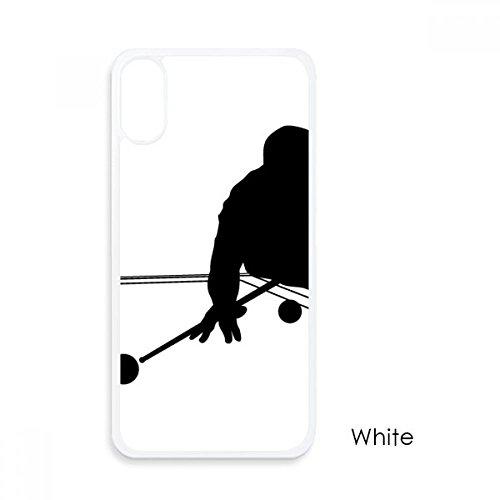 体育・スポーツのビリヤード iphoneケースホワイトx p...