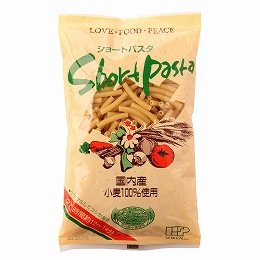 創健社 国内産小麦100%使用 ショートパスタ 300g×24個    JAN:4901735003310