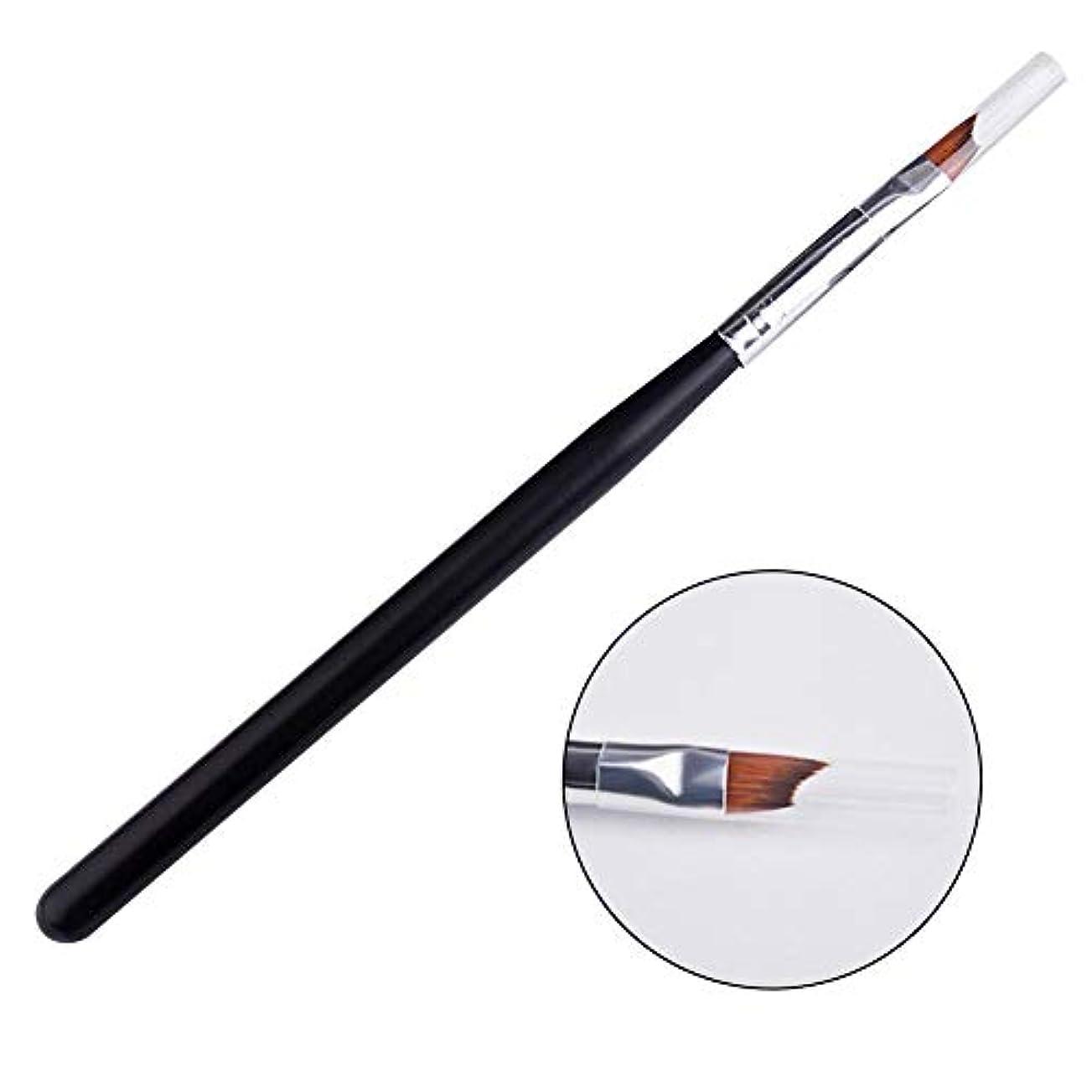 誰でも人事急降下SILUN ネイルアートブラシ ネイルマニキュア絵画ペン半月刀 - フレンチスタイルネイル用ブラシ ネイルアート ネイルアートネイル用品道具