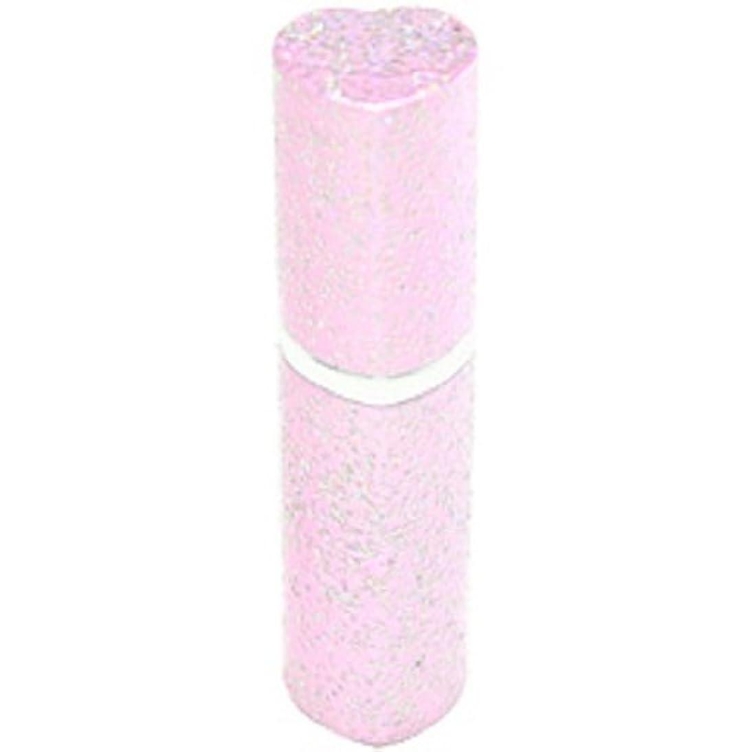 助言する家具独立したアトマイザー ラメハート ピンク 3ml 香水入れ