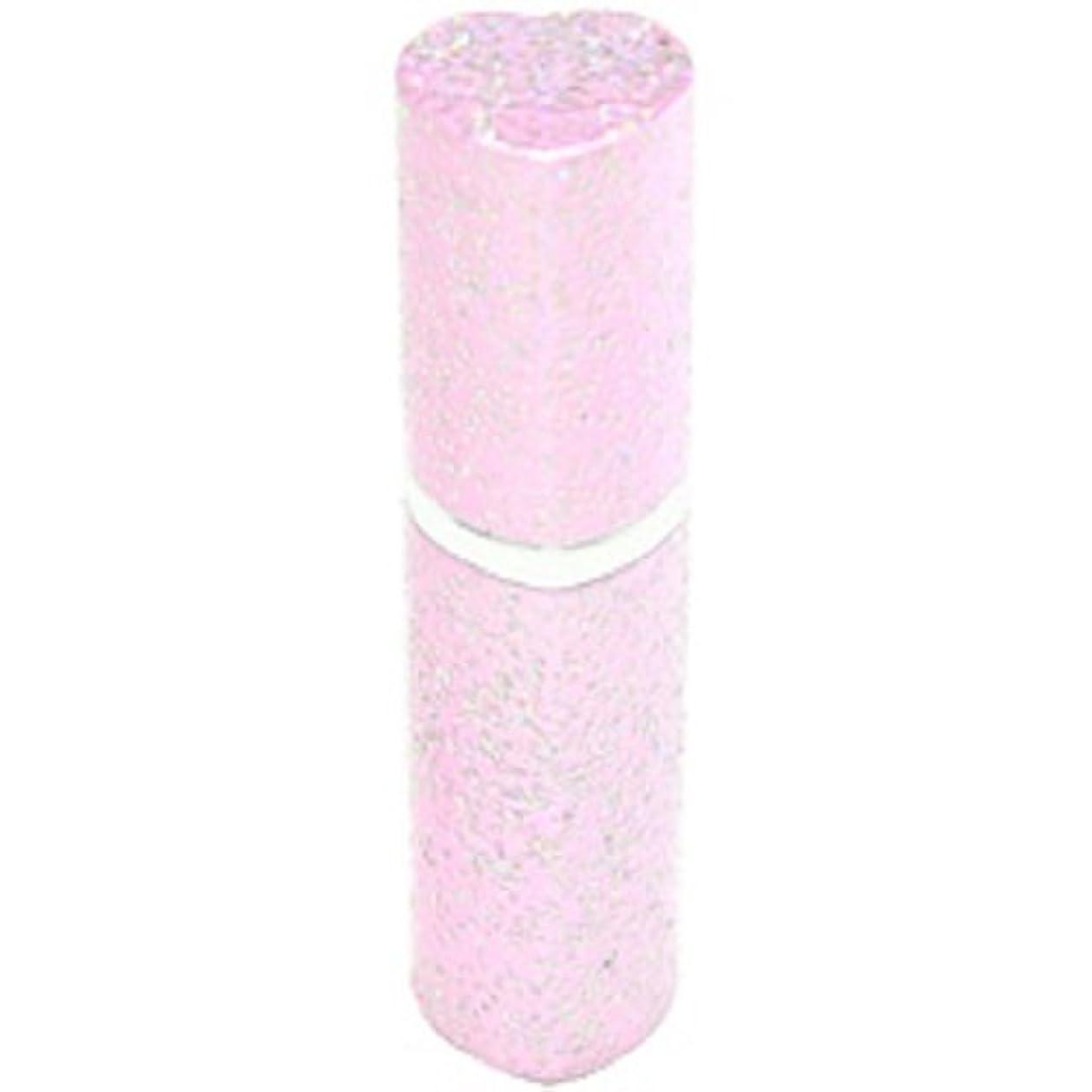 融合あいさつ配るアトマイザー ラメハート ピンク 3ml 香水入れ