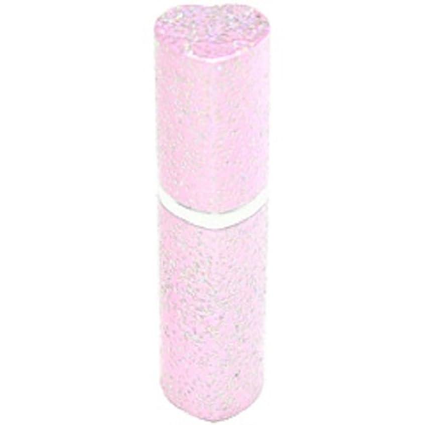 沿ってバッグ解釈的アトマイザー ラメハート ピンク 3ml 香水入れ