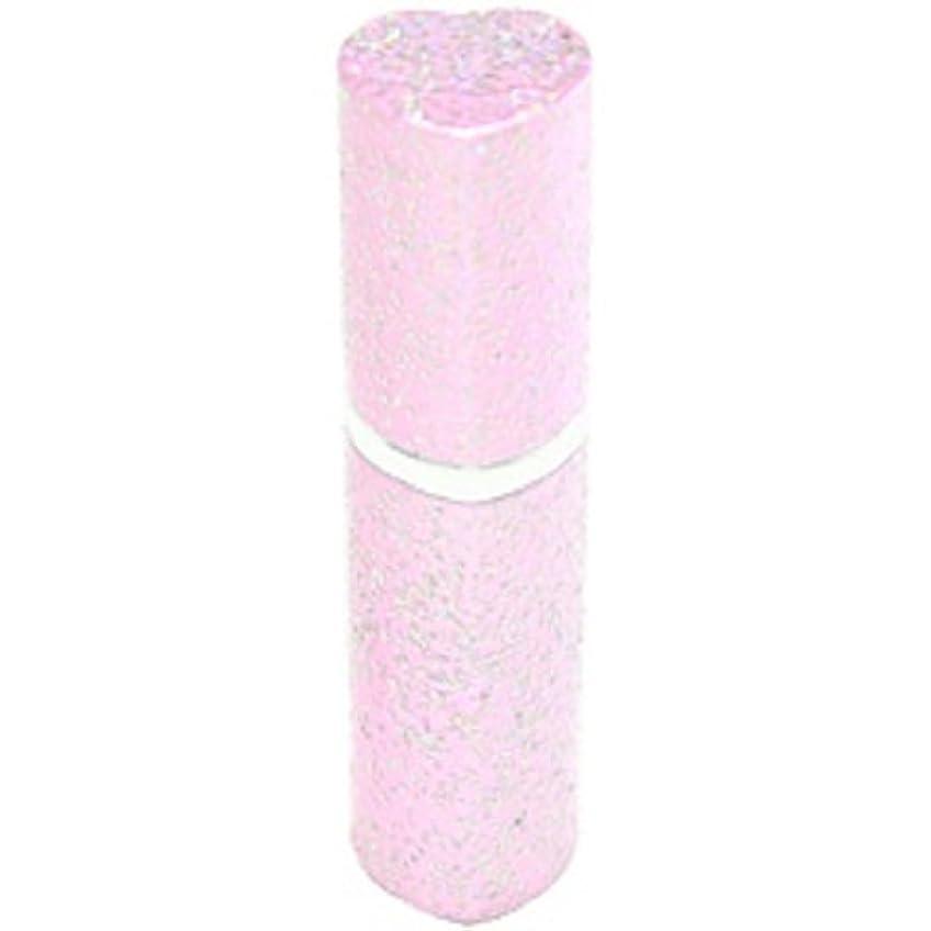 人道的わずらわしい直感アトマイザー ラメハート ピンク 3ml 香水入れ