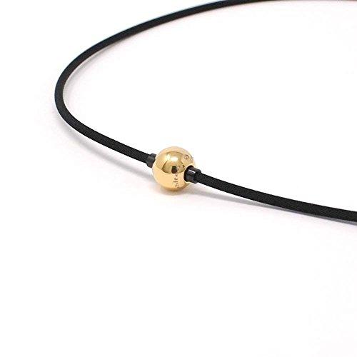 ファイテン(phiten) ネックレス RAKUWA ネックX100 ミラーボール ゴールド/ブラック 47cm 限定モデル
