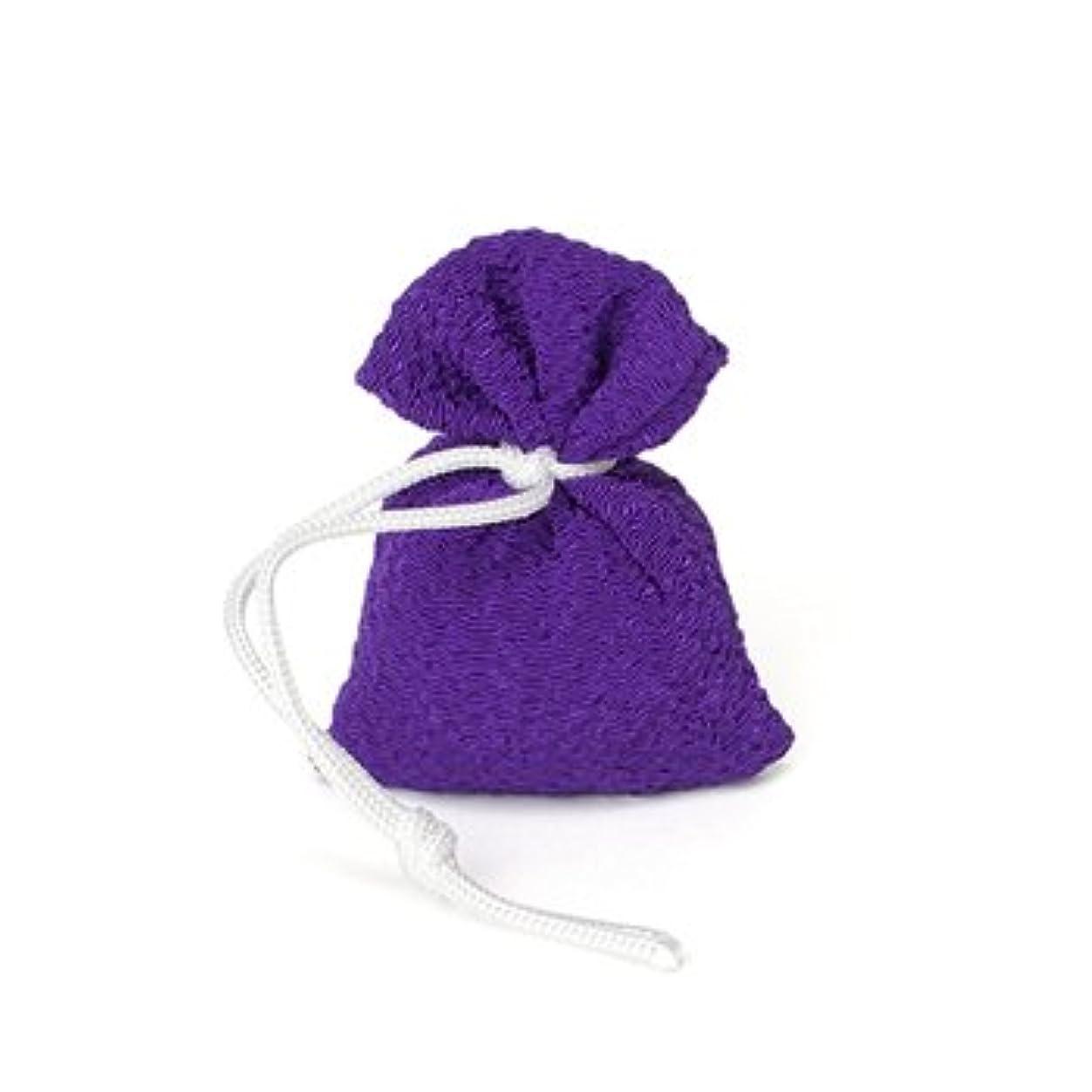 切手まだ会計士松栄堂 匂い袋 誰が袖 携帯用 1個入 ケースなし (色をお選びください) (紫)