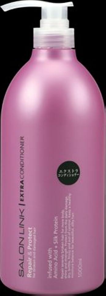 トロピカル巨大ドレス熊野油脂 サロンリンク エクストラコンディショナー 本体 1L×10本セット  ラグジュアリーな気分に浸れるヨーロピアンフローラルの香り