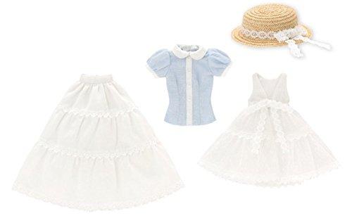 ピュアニーモ用 PNM Early summer ドレスセット ホワイト×ライトブルー (ドール用)