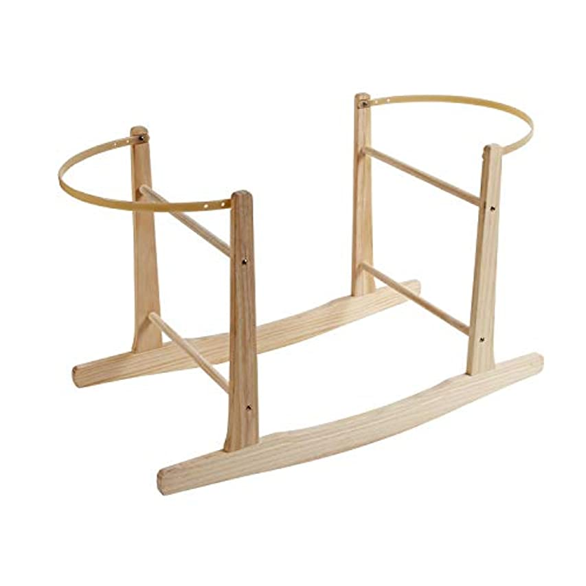 テロリストエステート三角Clair de Lune Wooden Rocking Moses Basket Stand (Natural)