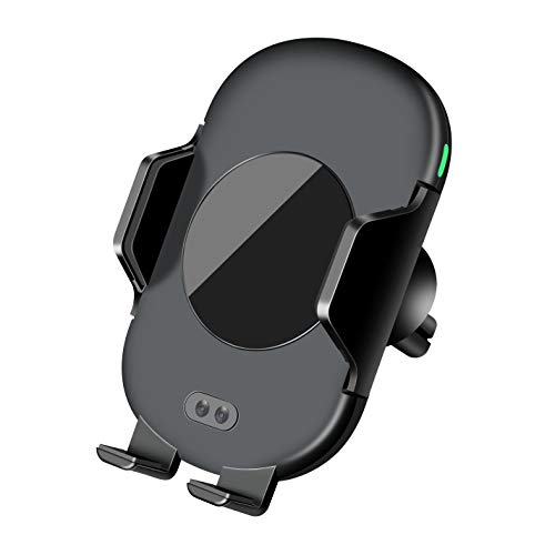 QI ワイヤレス充電器 自動開閉 充電ホルダー 黒 EV-7...
