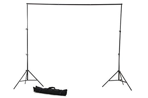 【ノーブランド品】写真撮影用背景スタンド バックグラウンドサポート (高さ75cm-200cm×幅110cm-200cm) 専用キャリーバッグ付属