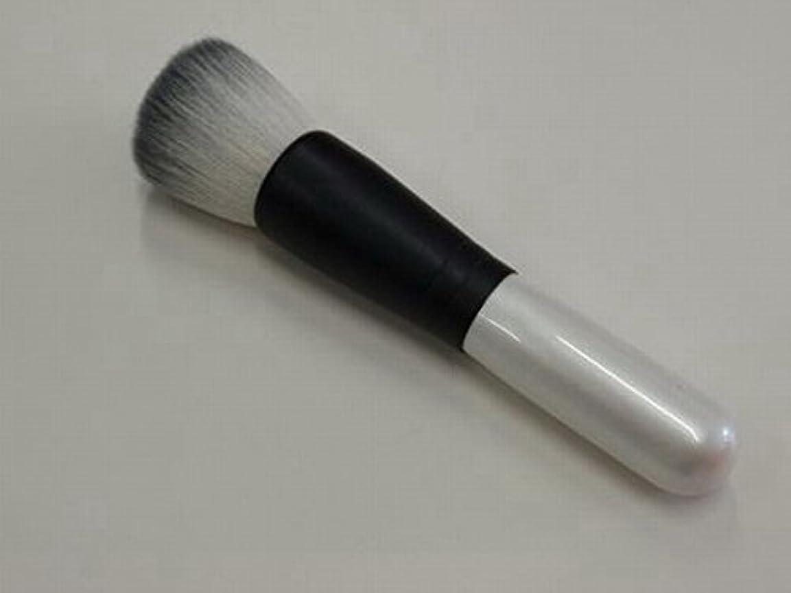 嵐馬鹿げた扱いやすい熊野筆 フラットタイプ パウダーブラシ 山羊毛(粗光峰) / ブロッティングペーパー付