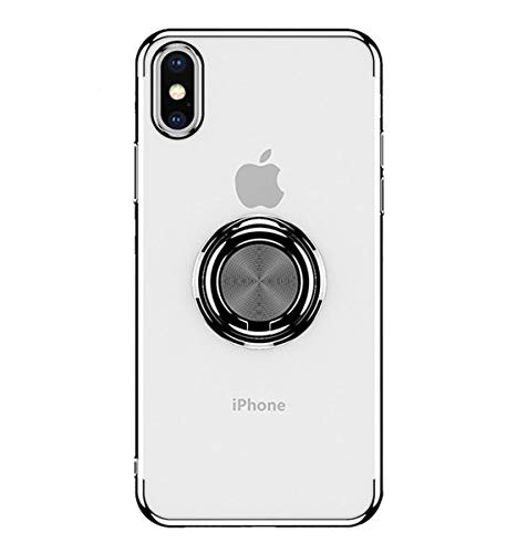 iPhone Xs ケース クリア リング付き OURJOY...