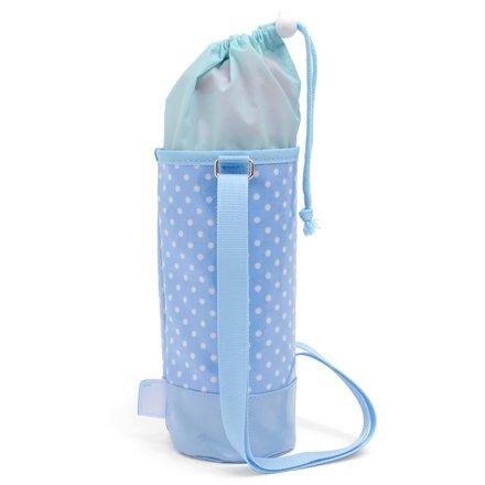 おしゃれキッズのmy水筒カバー・大 水玉(水色地に白ドット) 日本製 N7304110