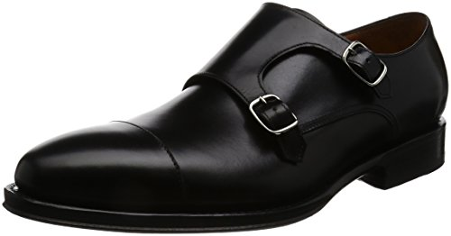 [ジャランスリウァヤ] ダブルモンク  98374 BLACK CALF LEA BLACK UK 6(24.5cm)