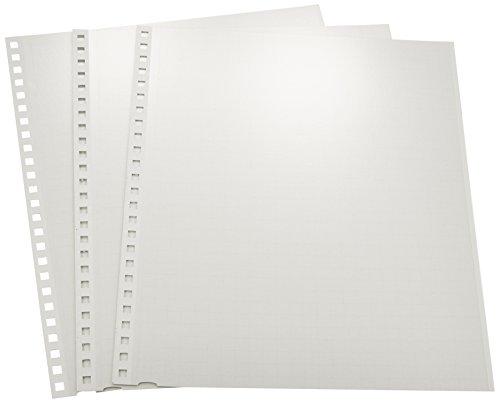 ナカバヤシ 工事用アルバム 方眼替台紙 四ツ切 縦 ホワイト (アーPR-5) 1パック3枚入