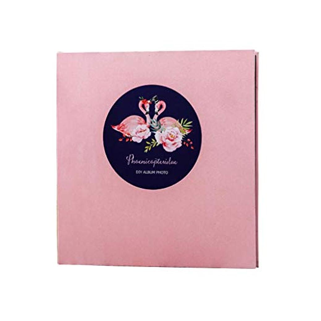 恐れるコンドーム実質的Lサイズ 自己粘着式フォトアルバム 様々な写真、20枚/40ページ、家族旅行用メモリーブック 35.5x33x3cm ピンク 97910