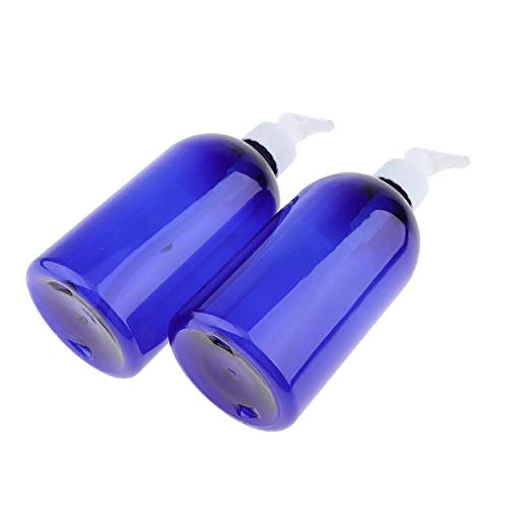 ライトニング時折時折T TOOYFUL 2本 ポンプボトル 500ml コスメ ローション 詰替え容器 プラスチック 大容量 耐久性 全2色 - 白