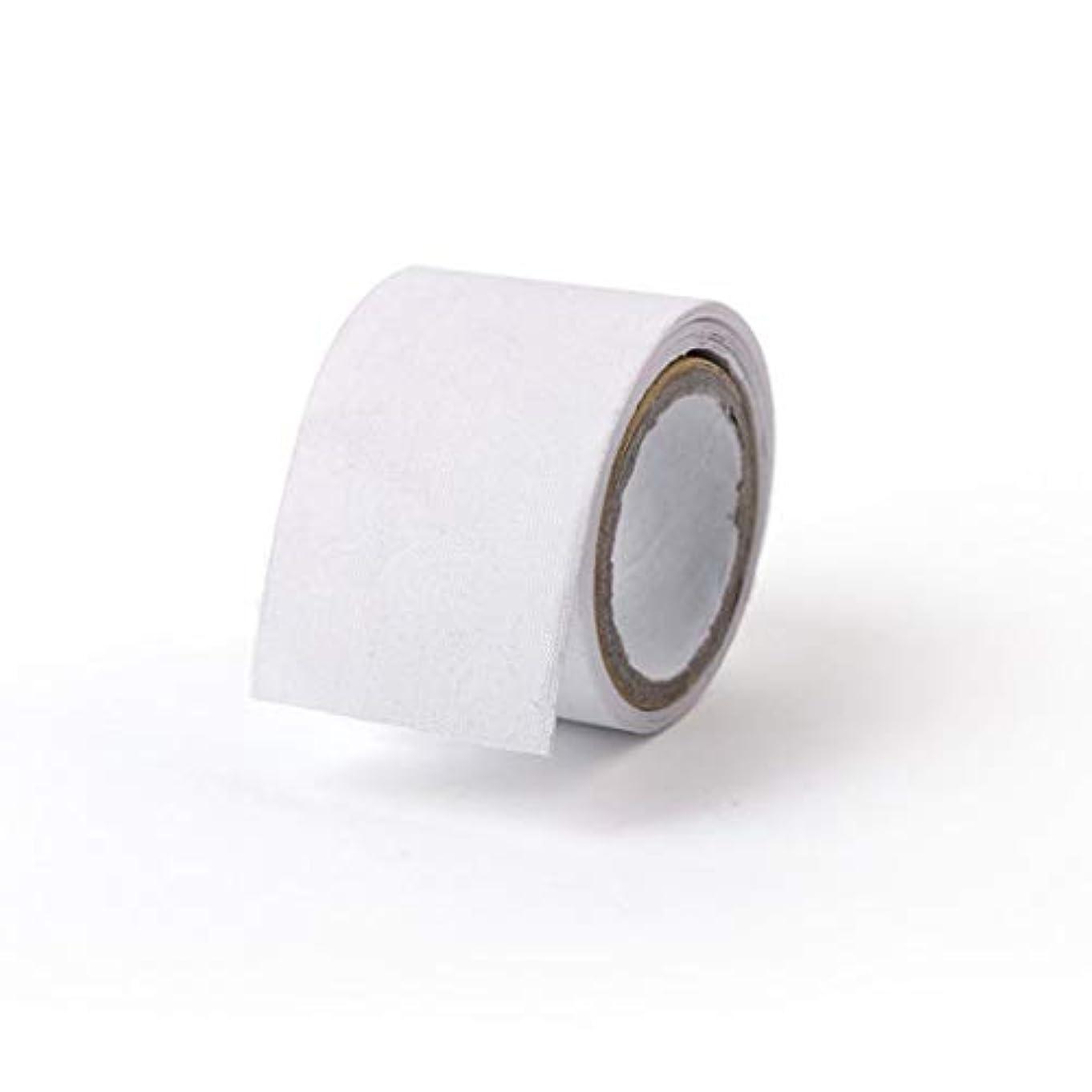 覗く電気的対象1st market マニキュアシルクネイルラップネイルアートセルフスティックツールは白1ロールが含まれています丈夫で便利