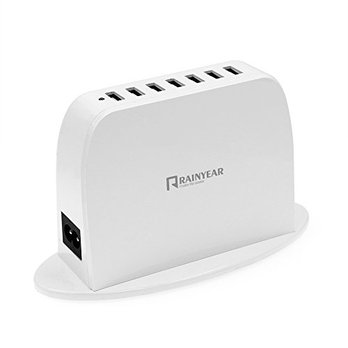 【RAINYEAR】 高速充電多ポートUSb充電器 7ポート多用途アップル携帯タブレット共用コンセントアダプタ多穴5v2A
