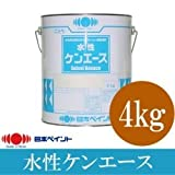 ニッペ 水性ケンエース つや消し白(ND-101) [4kg] 日本ペイント・軒天・室内壁・水性塗料