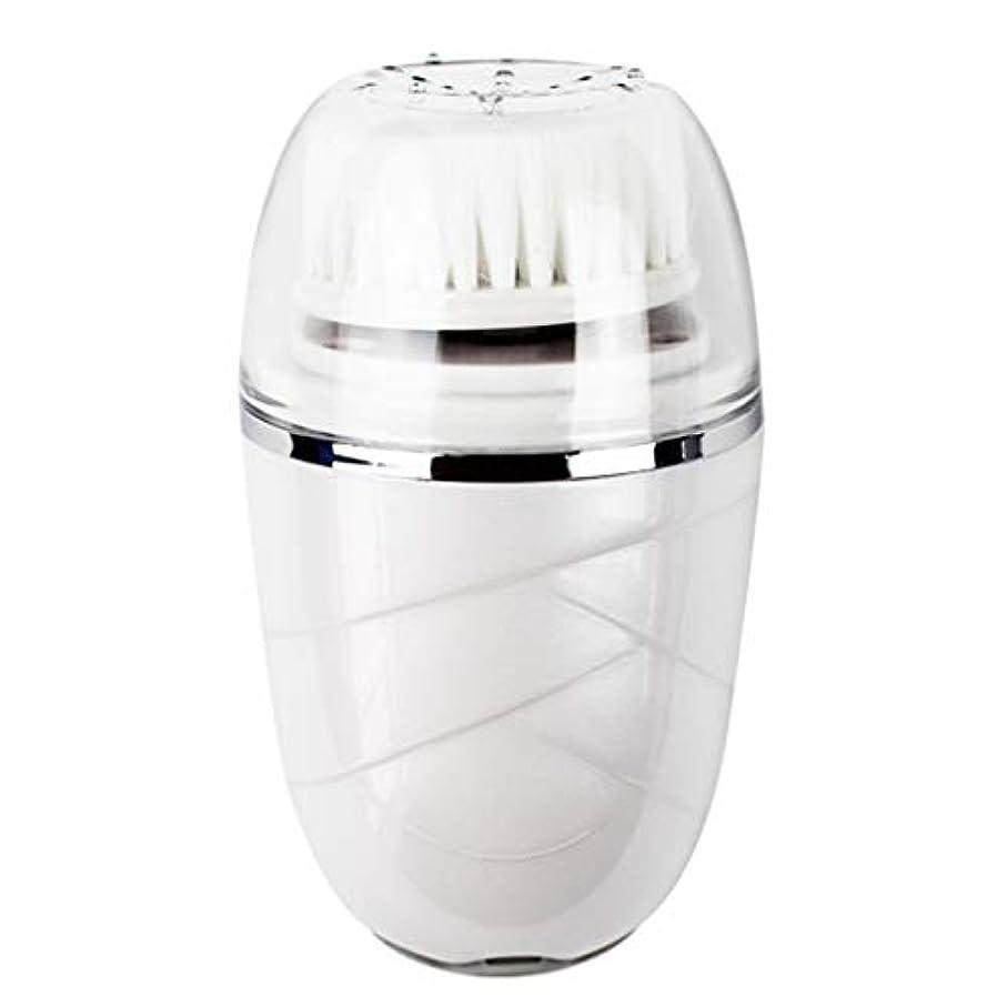 揃える一氷Qi フェイシャルクレンザーブラシ、電気防水深い毛穴クリーン除去ブラックヘッドアクネエクスフォリエイティングソフトクリーナーマッサージャー GQ (色 : 白)
