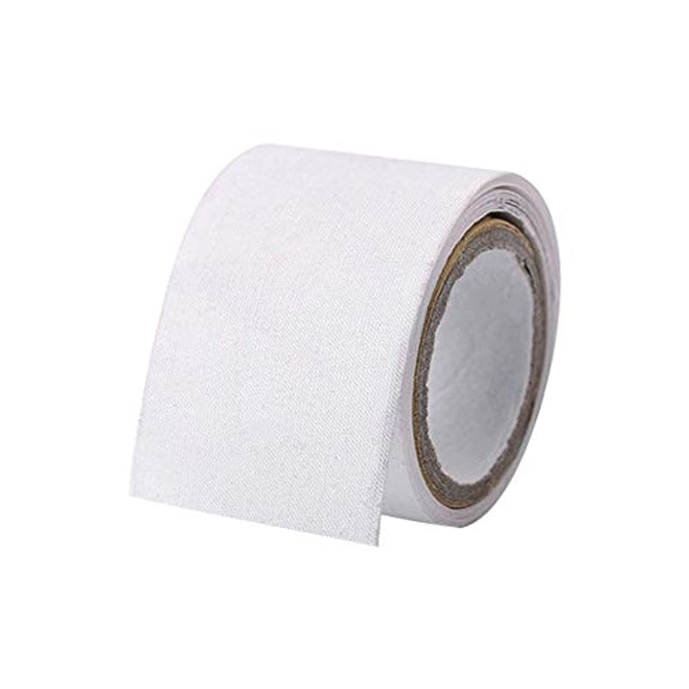 けん引快適面白い1ロール1メートル自己接着シルクネイルラップ補強ネイル使用前にUVジェルアクリルネイルホームサロンネイル保護ツール(Color:white)