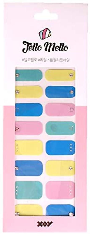 ダンスベリ拒絶[NJELL PICK] Vivid palette (ビビッドカラー) -ブルー、イエロー、ミント、ピンク、キュービックストーン、フルカラーネイル、キュート -ネイルラップ、ネイルパッチ、マニキュアストリップ、マニキュアシール