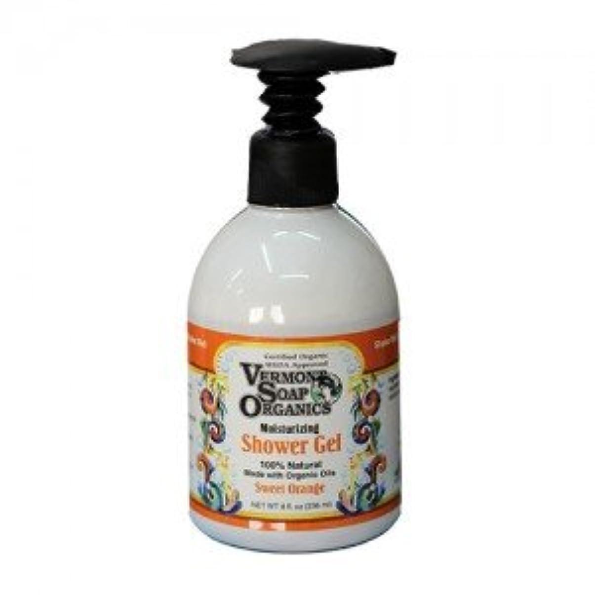 温室はぁ一口100%天然成分のオーガニック石鹸 バーモントソープ バス&シャワージェル 236mlボトル (スイートオレンジ)