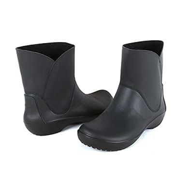 [クロックス] RAINFLOE BOOTIE W(レインフロー ブーティー Womens) レインブーツ レインシューズ ブーティー ウィメンズ レディース 女性用 長靴 203417 国内 正規品 27cm BLK crs16-024-BLK-27cm