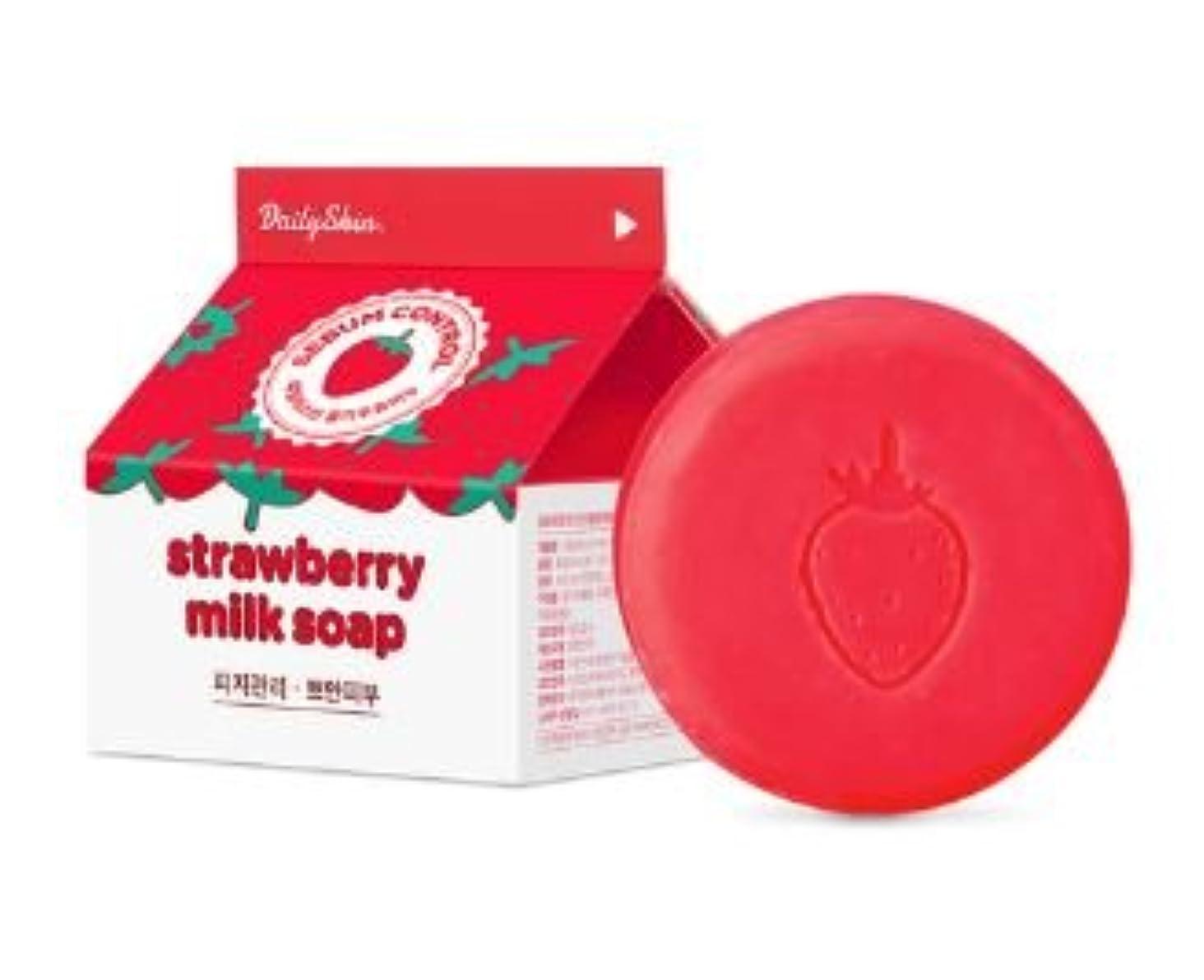 ひどく十分に菊[Renewal?] Daily Skin Strawberry Milk Soap 100g/デイリースキン ストロベリー ミルク ソープ 100g [並行輸入品]