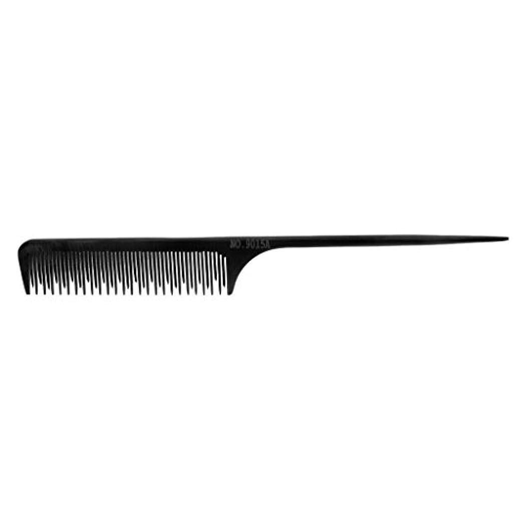 ためらう不満スチュワード1Pcの黒いプラスチック良い歯の理髪のヘアースタイルの大広間の帯電防止櫛