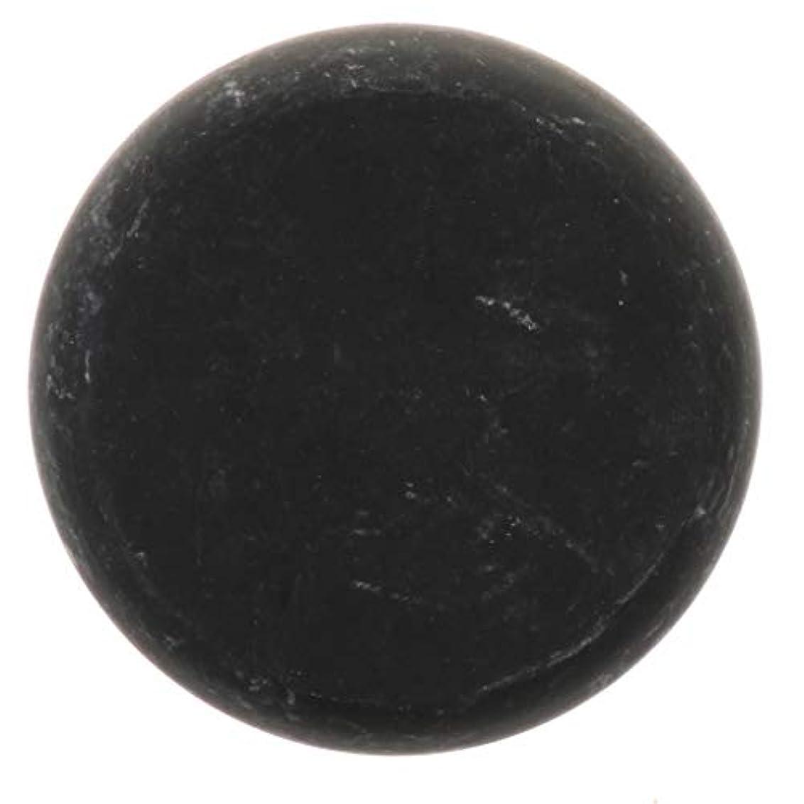 インシデント労苦混合FLAMEER 天然石ホットストーン マッサージ用玄武岩 マッサージストーン ボディマッサージ 実用的 全2サイズ - ブラック, 01