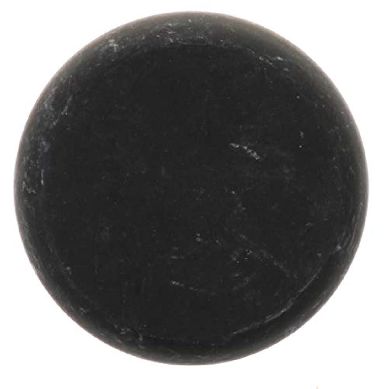 自体隙間スイッチFLAMEER 天然石ホットストーン マッサージ用玄武岩 マッサージストーン ボディマッサージ 実用的 全2サイズ - ブラック, 01