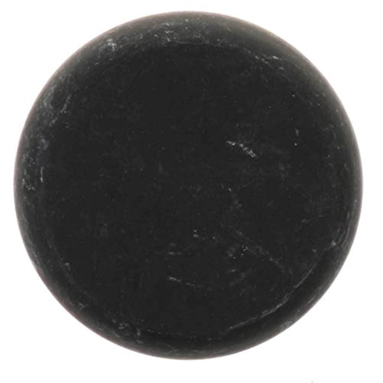 コイル百年プーノ天然石ホットストーン マッサージ用玄武岩 マッサージストーン ボディマッサージ 実用的 全2サイズ - ブラック, 01